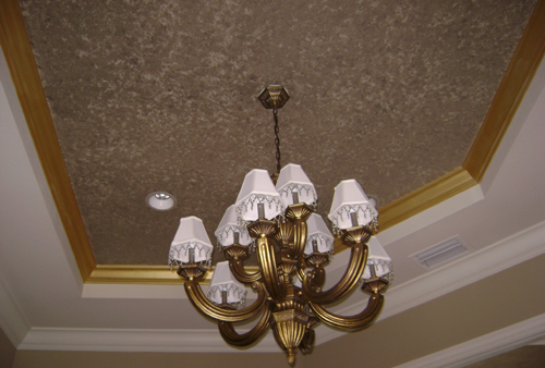 speckled ceiling