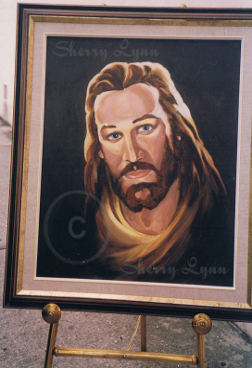 "18"" x 24"" oil of Jesus"